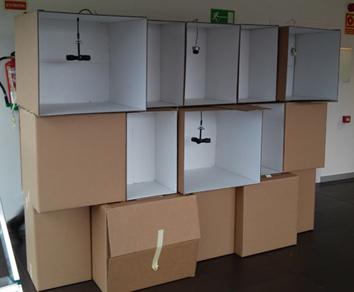 Javier autor en l mparas de cart n for Hacer muebles con carton
